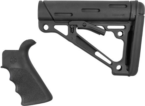 HOGUE AR-15 GRIP & OVERMOLDED COLLAPSIBLE STK COMMERICAL BLK - for sale