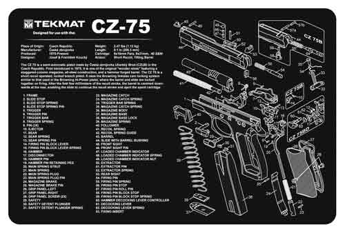tekmat - TEKR17CZ75 - TEKMAT CZ-75 - 11X17IN for sale