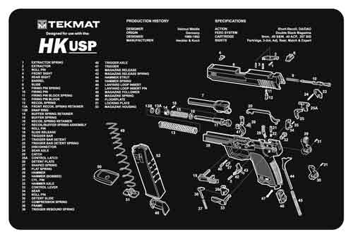 tekmat - Original Cleaning Mat - TEKMAT H&K USP - 11X17IN for sale