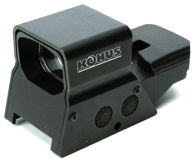 KONUS RED/GRN DOT SIGHTPRO R8 2-5MOA 1X27 8-RETIC DUAL RAIL - for sale