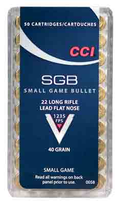 CCI AMMO 22LR SMALL GAME BLT 50/BOX        (50) - for sale