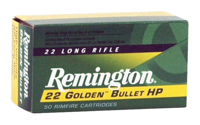 REM AMMO .22 LONG RIFLE 50-PK HIGH VELOCITY 36GR. LEAD-HP - for sale