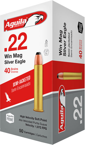 AGU BRASS CASE 22MAG 40GR SEMI-JACKET SP 50/2 - for sale