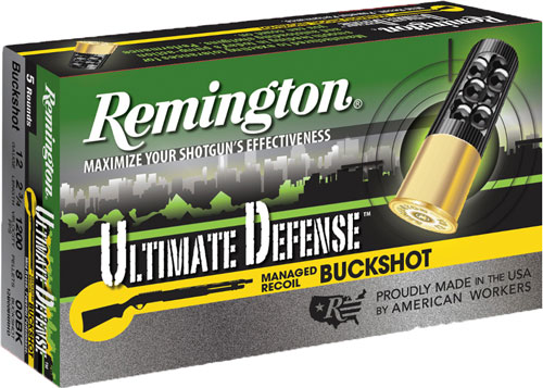 "REM AMMO ULTIMATE HOME DEFENSE R.RECOIL 12GA. 2.75"" 00BK 5-PK - for sale"