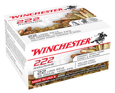 WIN AMMO .22LR (CASE LOT ONLY) 36GR. LEAD-HP 10EA./222 PACK - for sale