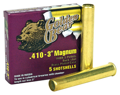 BEAR GOLDEN 410GA 3 #4 BUCKSHOT  54BXS/CASE - for sale