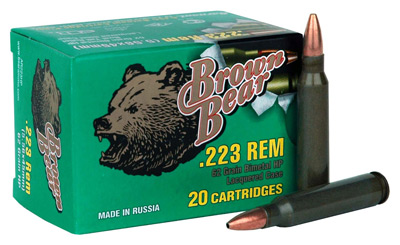 BEAR BROWN 223REM 62GR HP 20/25 - for sale