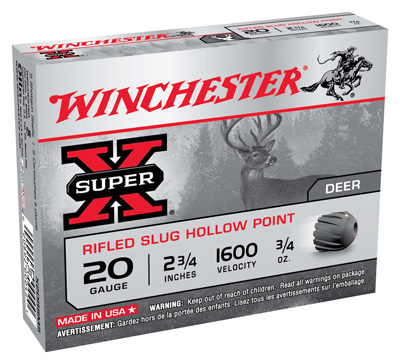 WIN SUPER-X 20GA 2.75 SLUG .75OZ 5/50 - for sale