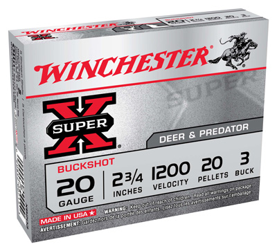 WIN SUPER-X 20GA 2.75 000 BUCK 5/50 - for sale