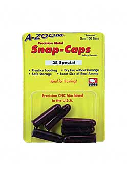 a-zoom - Revolver Snap Caps - 38 SPECIAL RVLVR METAL SNAP-CAPS 6PK for sale