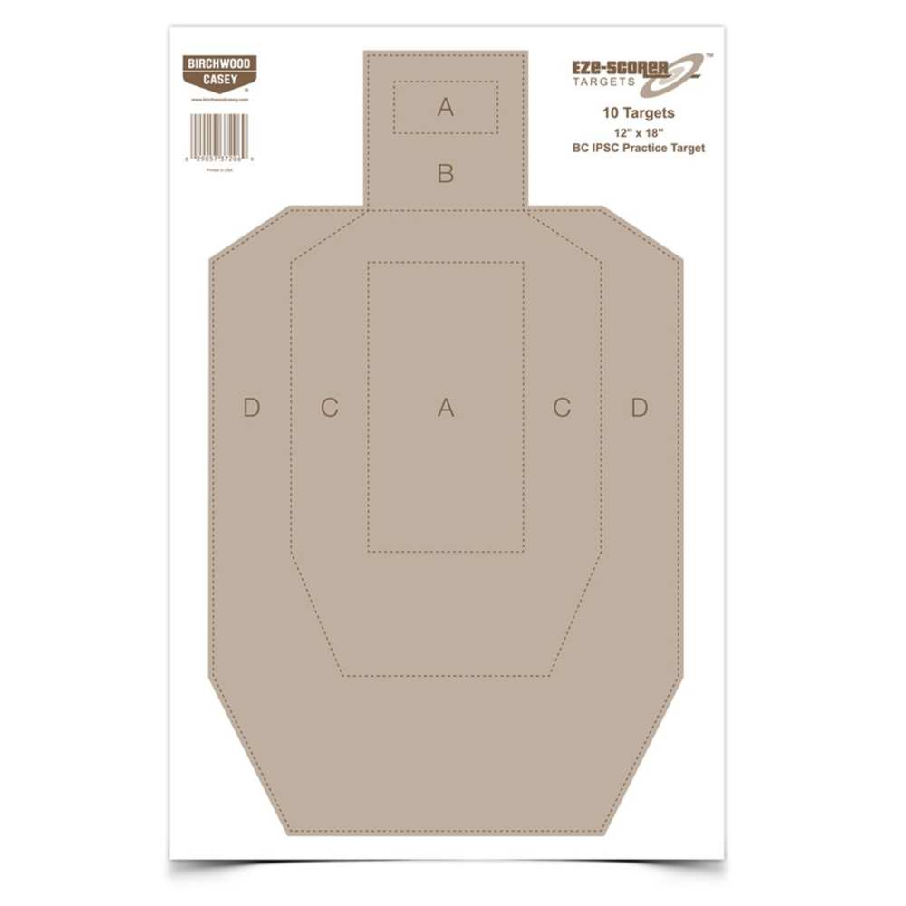 birchwood casey - EZE-Scorer - EZESCORER IPSC PRACTICE 12X18IN 10 TGTS for sale