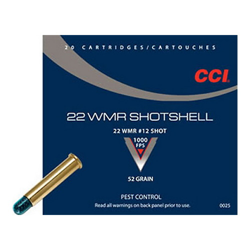 cci ammunition - Pest Control - .22 Mag - CCI 22 WMR SHOTSHELL 20RD/BX for sale