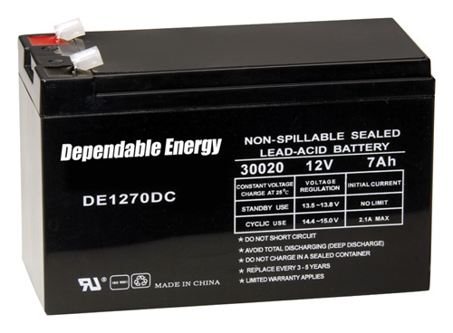 AMERICAN HUNTER BATTERY RECHARGEABLE 12V 7AMP TAB TOP - for sale