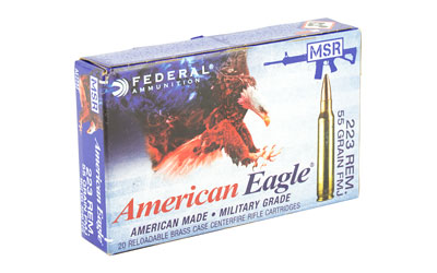 FED AMERICAN EAGLE 223REM 55GR FMJ 20/25 - for sale