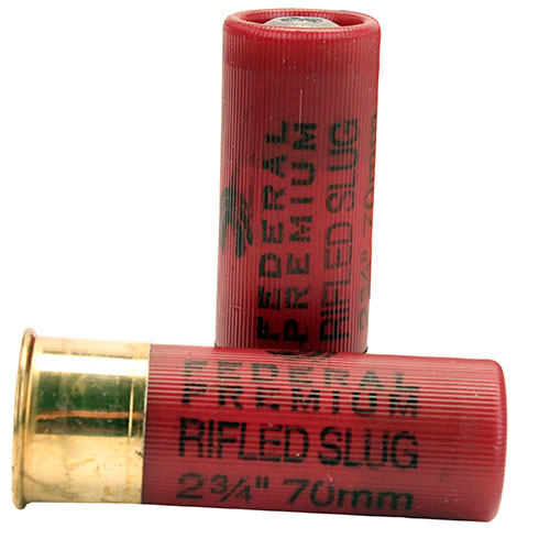 "FED PRM 12GA 2.75"" RIFLED SLUG 5/250 - for sale"