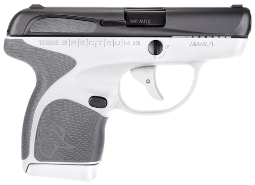 "TAURUS SPECTRUM .380ACP 2.8"" FS 7-SHOT BLK/WHITE POLY GRAY - for sale"