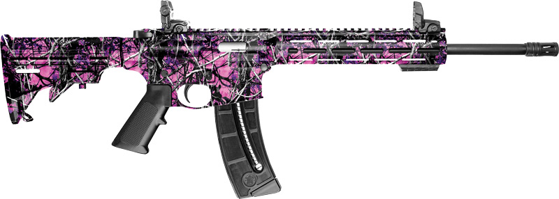 "S&W M&P15-22 SPORT .22LR 16.5"" 25-SH 6-POS STOCK MUDDY GIRL - for sale"