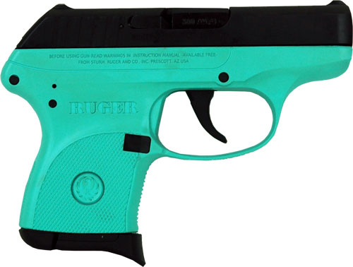 RUGER LCP .380ACP 6-SHOT FS BLUED/SLD TURQUOIS FRM (TALO) - for sale