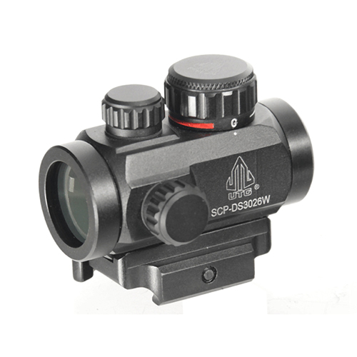 "UTG RED MICRO DOT 4.0 MOA 2.6"" 30MM W/INTEGRAL QD MOUNT - for sale"