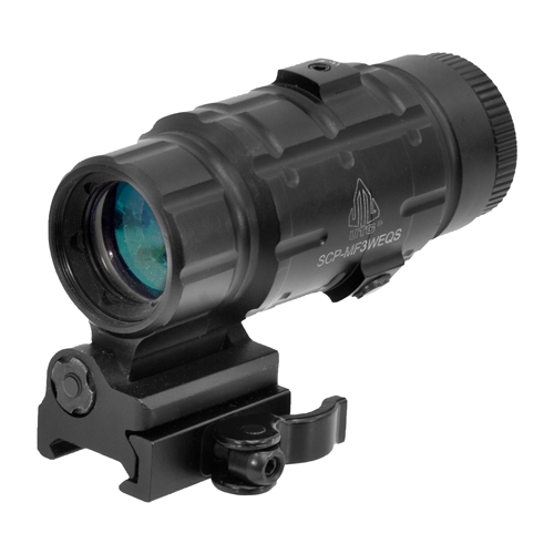 UTG 3X MAGNIFIER W/FTS QD MNT - for sale