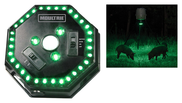 MOULTRIE FEEDER HOG LIGHT 30' RADIUS GREEN LED MOTION ACTIVA - for sale