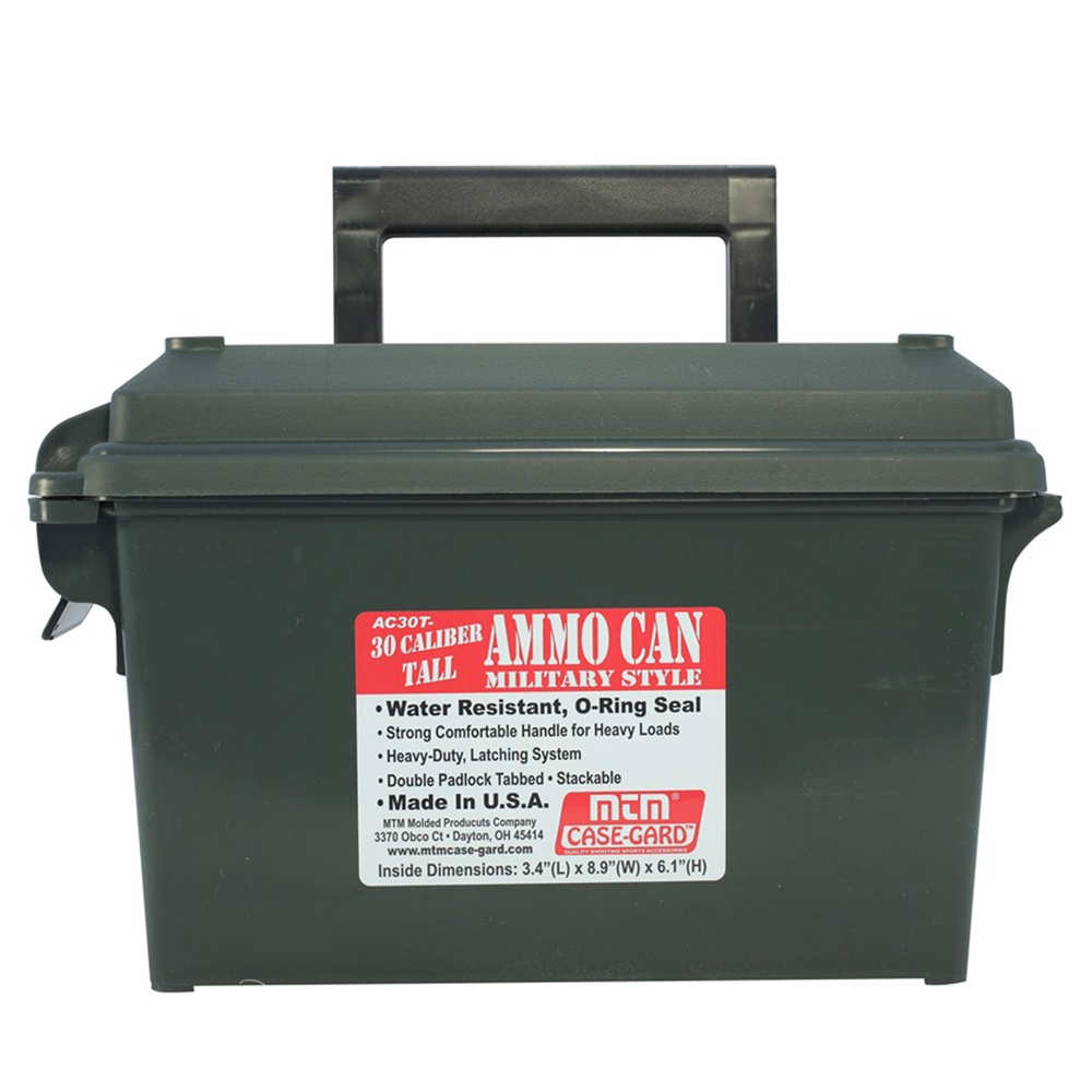 mtm case-gard - Ammo Can - AMMO CAN 30 CALIBER TALL FOREST GREEN for sale
