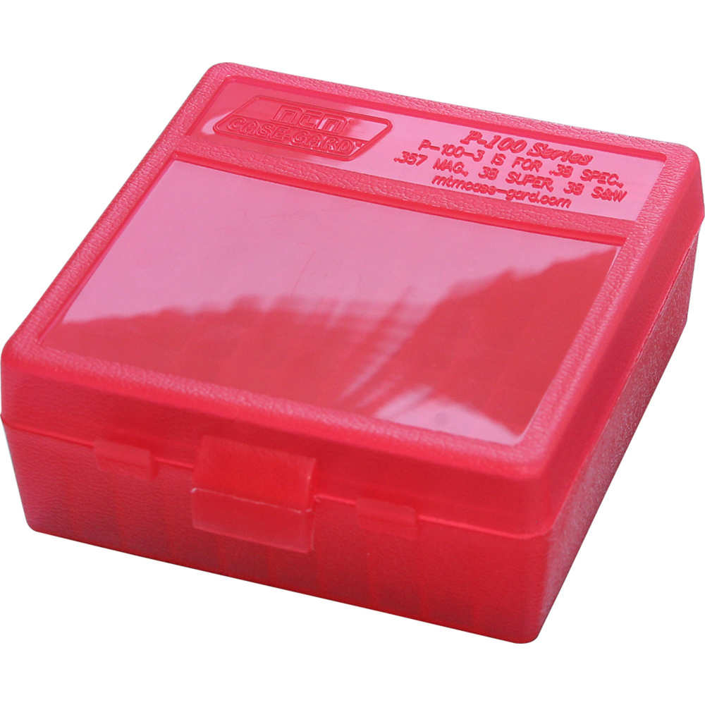 mtm case-gard - Case-Gard - P100 MED HNDGN AMMO BOX 100RD - CLR RED for sale