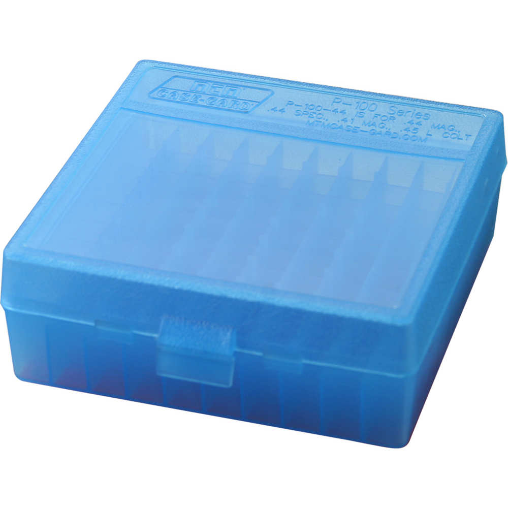 mtm case-gard - Case-Gard - P100 XLG HNDGN AMMO BOX 100RD - CLR BLUE for sale