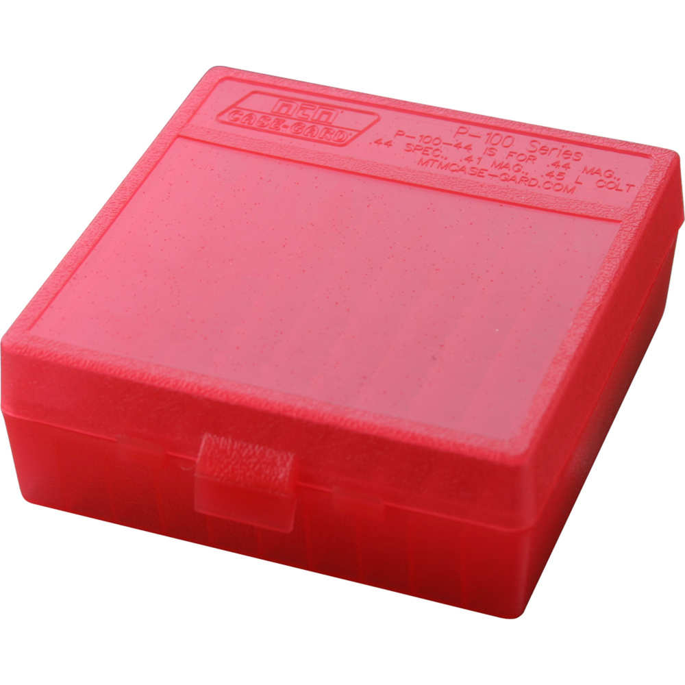 mtm case-gard - Case-Gard - P100 XLG HNDGN AMMO BOX 100RD - CLR RED for sale