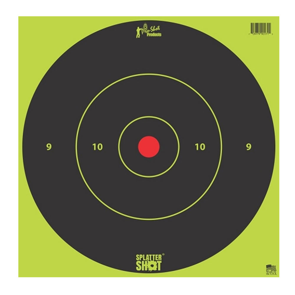pro-shot - SplatterShot - 12IN GREEN BULLS EYE TARGET 5 PK BAG for sale