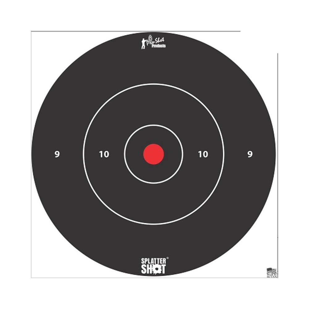 pro-shot - SplatterShot - 12IN WHITE BULLS EYE TARGET 5 PK BAG for sale