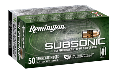 REM AMMO SUBSONIC .22LR 50-PK 40GR. COPPER PLATED LEAD HP - for sale