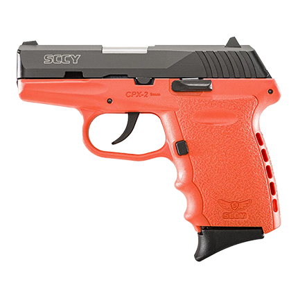 SCCY CPX2-CB PISTOL DAO 9MM 10RD BLACK/ORANGE W/O SAFETY - for sale