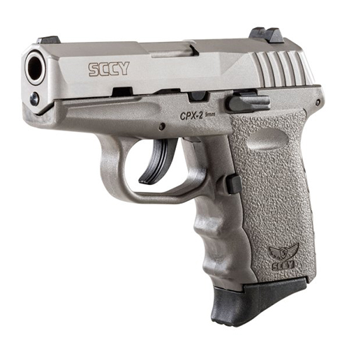 SCCY CPX2-TT PISTOL DAO 9MM 10RD SS/SNIPER GRAY W/O SAFETY - for sale
