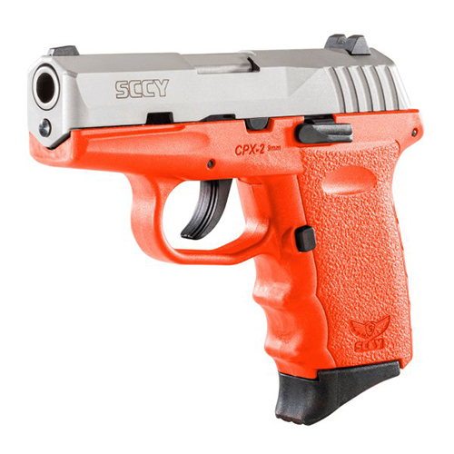 SCCY CPX2-TT PISTOL DAO 9MM 10RD SS/ORANGE W/O SAFETY - for sale