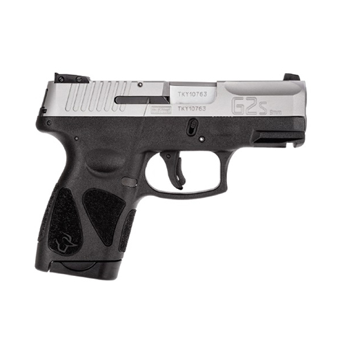 TAURUS G2S SLIM 9MM 7-SHOT 3-DOT ADJ. MATTE SS POLYMER - for sale