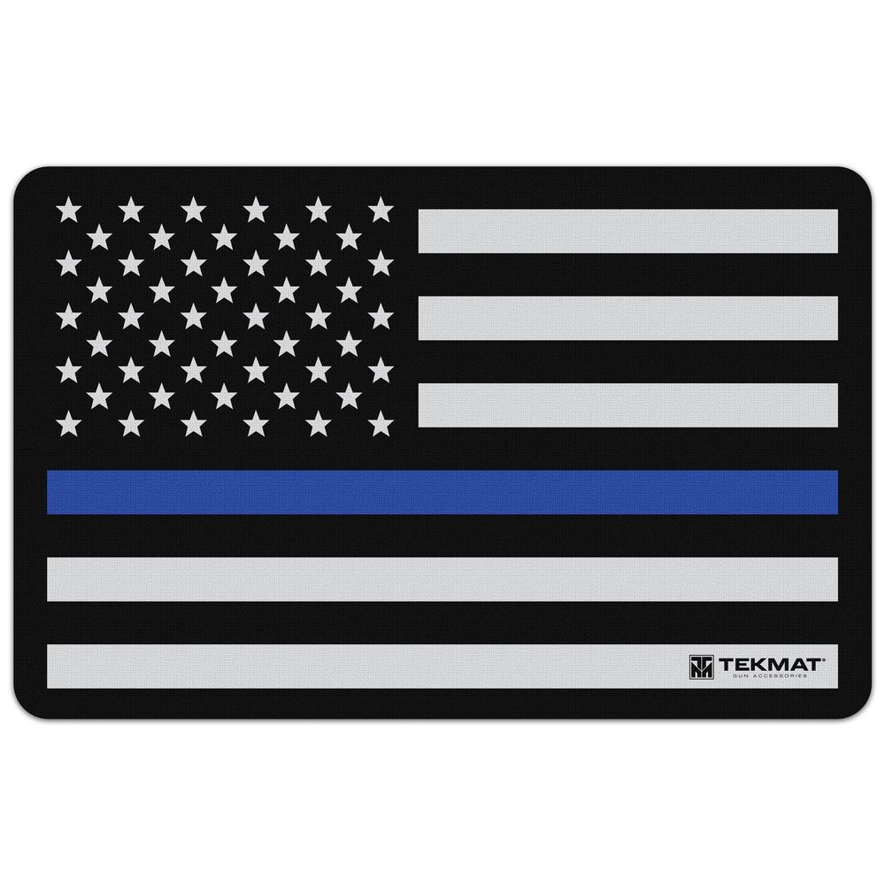 tekmat - Original Cleaning Mat - TEKMAT POLICE SUPPORT FLAG - 11X17IN for sale