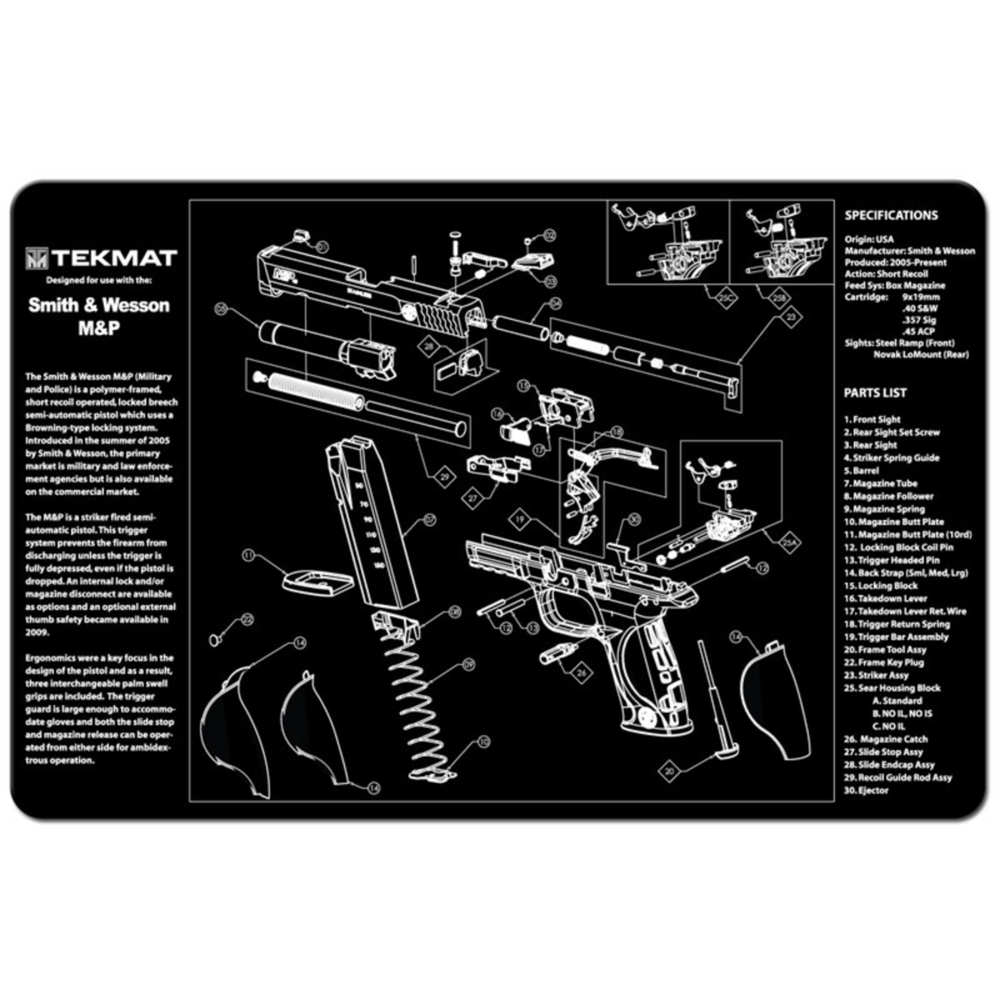 tekmat - S&W M&P - TEKMAT S&W M&P - 11X17IN for sale