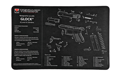 tekmat - Original Cleaning Mat - TEKMAT GLOCK 42/43 - 11X17IN for sale
