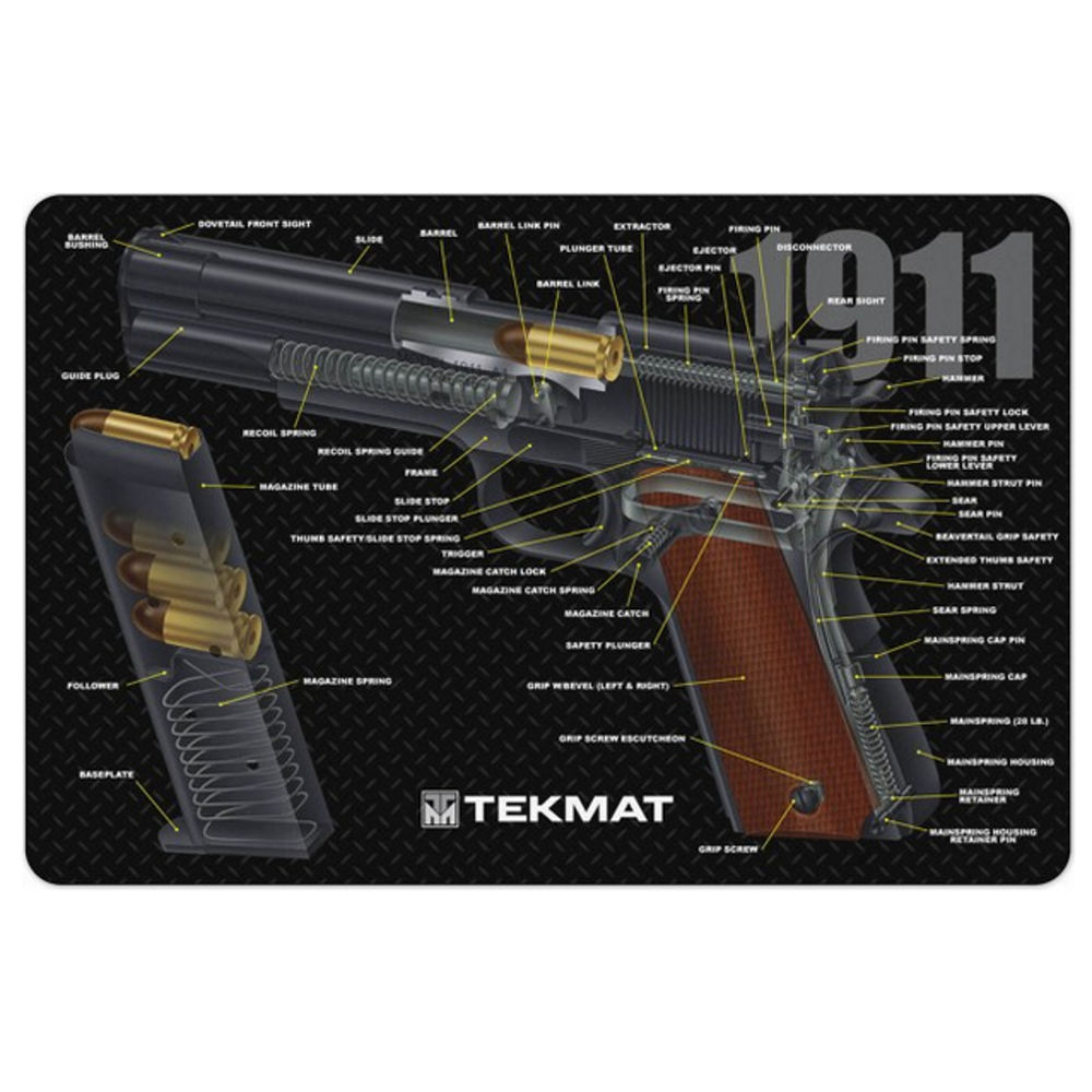 tekmat - Original Cleaning Mat - TEKMAT 1911 CUT AWAY - 11X17IN for sale