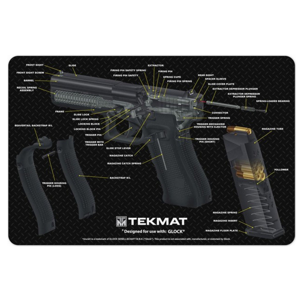 tekmat - Original Cleaning Mat - TEKMAT GLOCK CUT AWAY - 11X17 for sale
