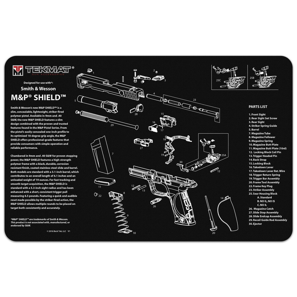 tekmat - S&W M&P SHIELD - TEKMAT S&W M&P SHIELD - 11X17IN for sale