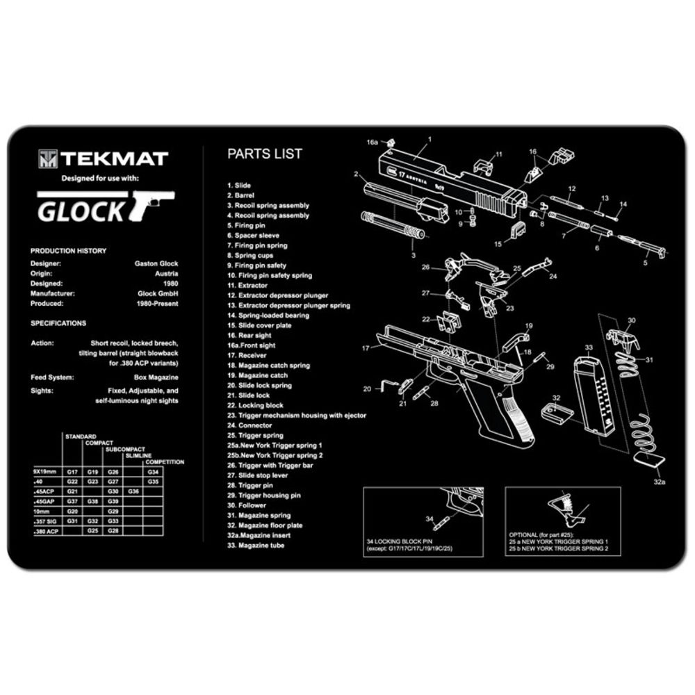 tekmat - Original Cleaning Mat - TEKMAT GLOCK - 11X17IN for sale