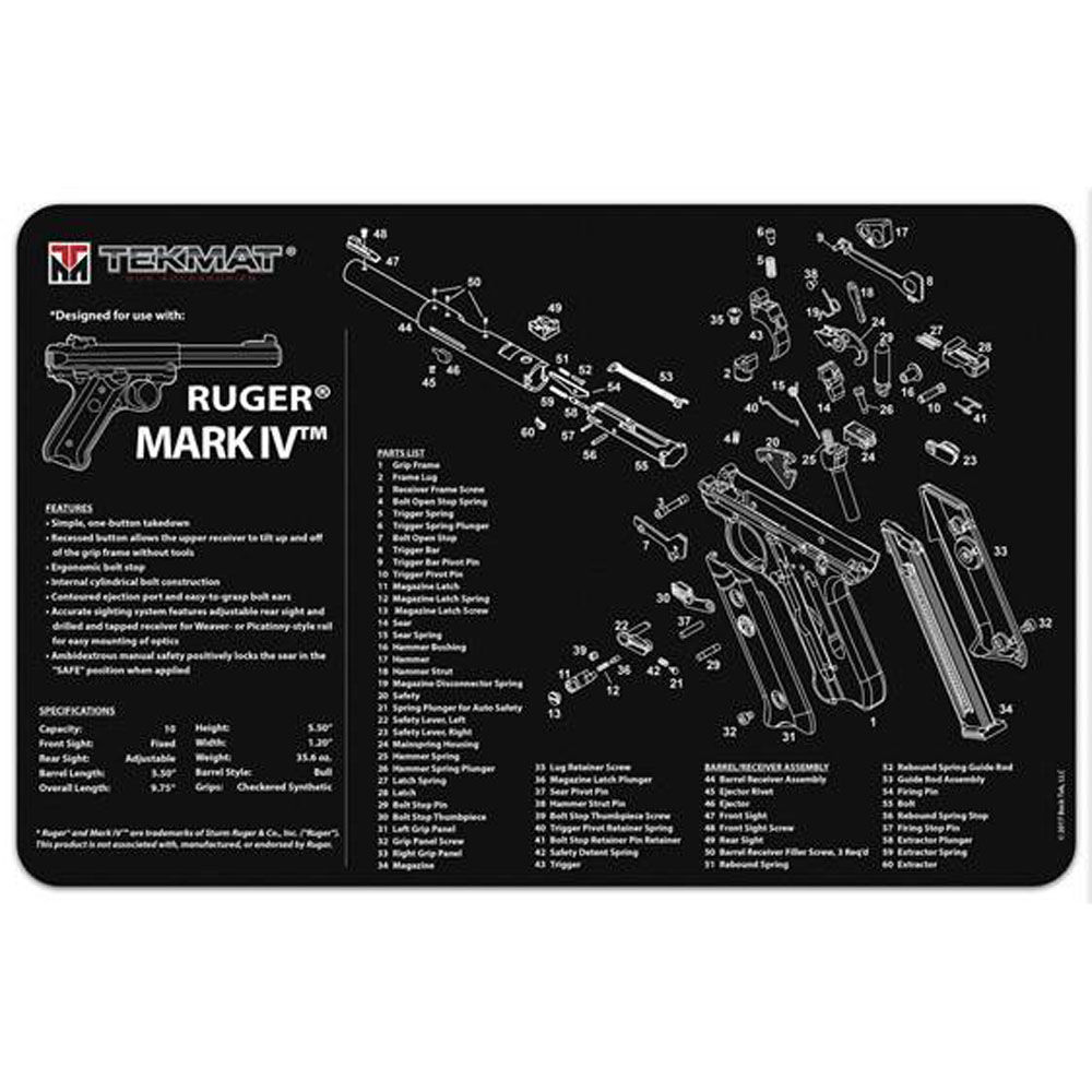 tekmat - Original Cleaning Mat - TEKMAT RUGER MKIV  -11X17IN for sale