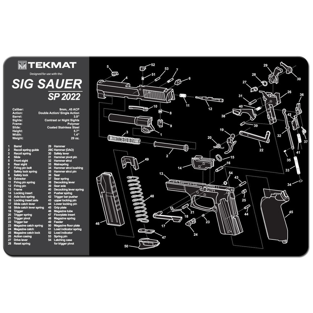 tekmat - Original Cleaning Mat - TEKMAT SIG SAUER SP2022 - 11X17IN for sale