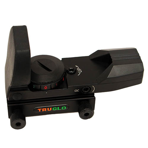 TRUGLO PANORAMIC SIGHT 5-MOA DOT GREEN/RED BLACK - for sale