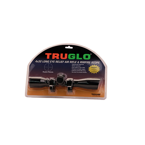"TRUGLO 4X32 DUPLEX BLK W/ 3/8"" RINGS - for sale"