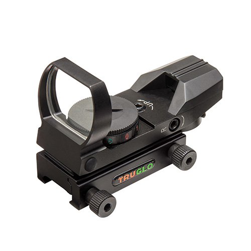 TRUGLO PANORAMIC SIGHT 4-RETICLE RED/GREEN BLACK - for sale