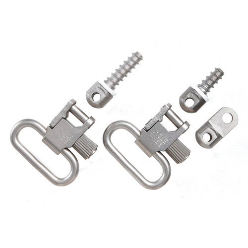 uncle mike's - Rifle Swivels - QD115 RUG NKL 1IN SLING SWIVEL SET for sale