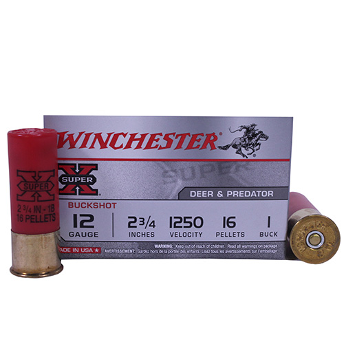 WIN SUPER-X 12GA 2.75 0 BUCK 5/50 - for sale